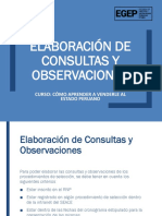 elaboración de con consultas y observaciones