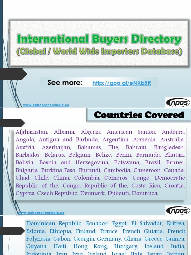 Bahrain Importers List