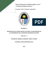 Informe de La Importancia de La Cordillera y Mar Peruano