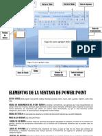 Elementos de La Ventana de Power Point
