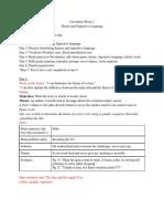 theme and figurative language lesson plan 6 days