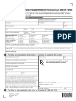 Physician Fax Order Form