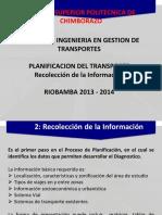Cap2 RecolecInformacion Planificacion de Transporte