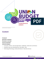 Union Budget 2019 Comprehensive Analysis