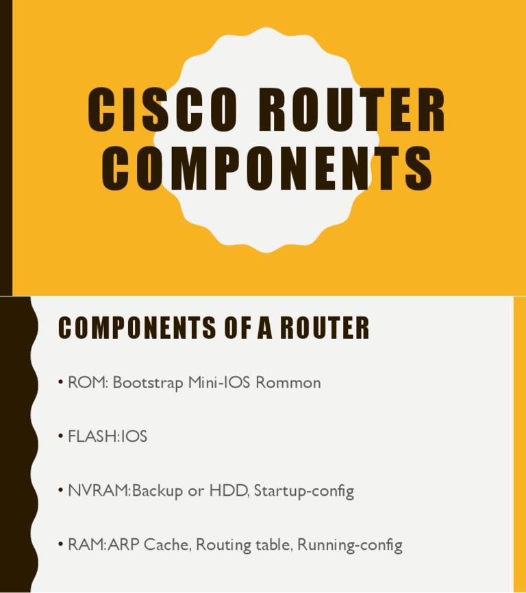 3 1 Cisco Router Components pptx pptx