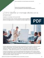 Diseñar Un Mensaje Efectivo en La Empresa