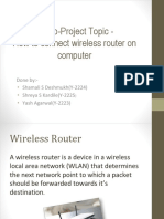 How to Connect Wireless Router on Computer