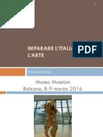 Imparare Litaliano Con Larte 8-9 Marzo