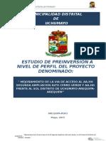 Perfil Mejoramiento Vias pueblo Uchumayo