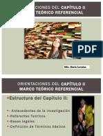 Orientaciones para realizar CAPITULOS I II Y III DE UNA TESIS