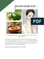 Nhung Phuong Phap Lam Dep Tu Bo Ban Nen Biet