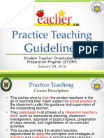 Practice Teaching Guidelines