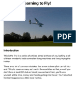Learn to fly Part 1