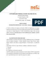 Edital 02-2019 NELE Inscricoes
