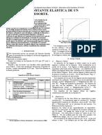 Medida de La Constante Elástica de Un Resorte IEEE