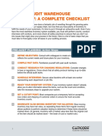 How to Audit Warehouse Inventory Checklist
