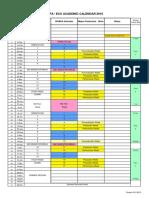 WAAPA Academic Calendar