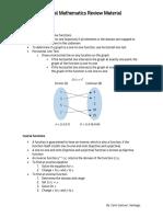 General Mathematics Review Material