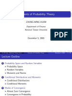 Elements of Probability Theory - Lecture Notes
