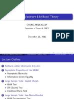 Quasi Maximum Likelihood Theory - Lecture Notes