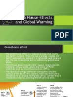 Green House Effects and Global Warming