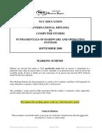 Marking Scheme NCC IDCS Fundamentals of Hardware & OS System Sep 2008