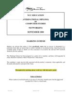 Marking Scheme NCC IDCS Networking Sep 2008