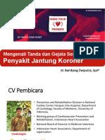 Kebijakan Direktur P2PTM Dr Cut Putri Arianie MH Kes Hari Jantung Sedunia 20181