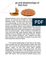 Advantage and disadvantage of fast food.docx