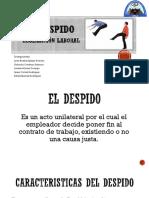 El Despido - Legislaciòn Laboral