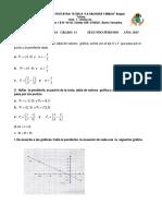 Taller Funcion Lineal y Cuadratica