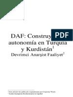DAF, Construyendo Autonomía en Turquía y Kurdistán - Devrimci Anarsist Faaliyet