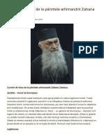 Cuvinte de Folos de La Părintele Arhimandrit Zaharia Zaharou _ Sfântul Munte Athos