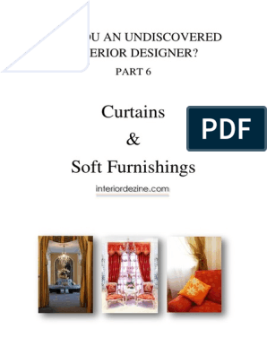 Part 6 Curtains And Soft Furnishings Pdf Upholstery Curtain
