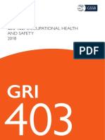 GRI 403 - Occupational Health and Safety 2018