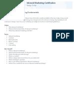 Inbound Marketing Fundamentals Study Guide