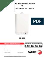 Manual Caldera CE 24E