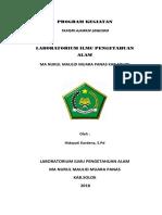 Program Kerja Laboratorium IPA Oke