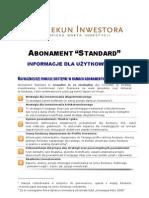 Abonament Standard - Informacje