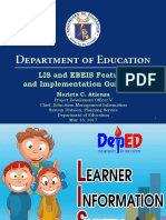 LIS and EBEIS IMPLEMENTING GUIDELINES Conference of Philippine Schools Overseas