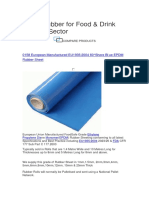 Sheet Rubber for Food & Drink Industry Sector