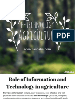 E- Technology in Agriculture-IASbaba