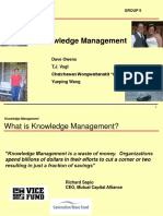 Knowledge Manangement Process Ppt