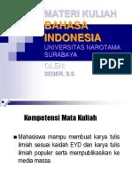 Bahasa Indonesia Pertemuan-1