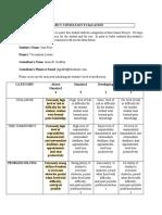 consultant evaluation