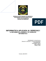 Informatica Juridica y Derecho Informatico