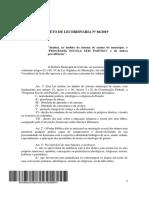 Projeto de Lei Ordinária Nº 86-2019
