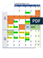 Calendario Sesiones - 3º Eso