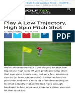 Low Trajectory, High Spin Wedge Shot - GolfTEC Scramble Blog