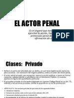 El actor penal